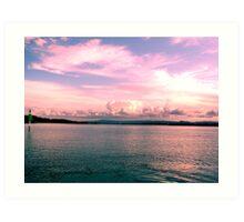 Pink Paradise Skyline Art Print