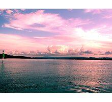 Pink Paradise Skyline Photographic Print