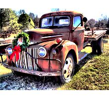Christmas Truck Photographic Print