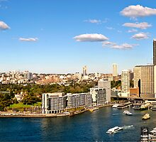 Circular Quay From Sydney Harbour Bridge Panorama by DavidIori