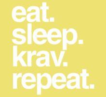 Eat Sleep Krav Repeat Kids Clothes