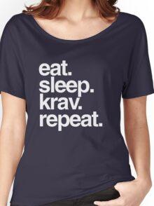 Eat Sleep Krav Repeat Women's Relaxed Fit T-Shirt
