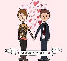 Seth and Stefon by lspiroo