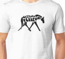 Western Pleasure Word Art Black Unisex T-Shirt