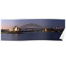 Opera House Harbour Bridge Panorama Poster