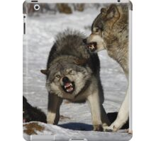 Back off! - Timber Wolf iPad Case/Skin