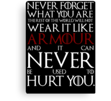 Wear It Like Armour Canvas Print