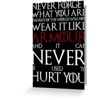 Wear It Like Armour Greeting Card