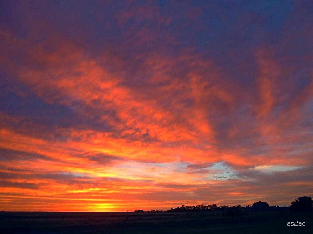 prairie sunset by as2ae