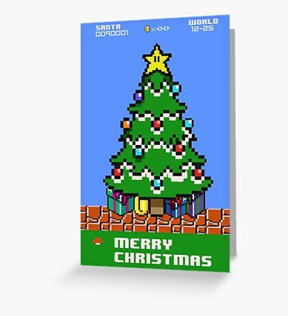 Merry 8-bit Christmas Greeting Card