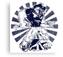 Wilbur Wildcat (Blue) Canvas Print