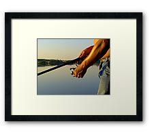 Happy fishing Framed Print