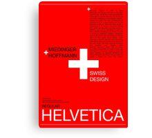 Helvetica Canvas Print