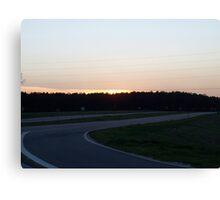 Curvy Sunset Canvas Print