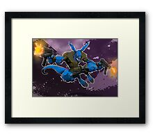 Salty Roo Framed Print