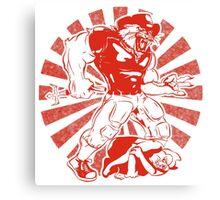 Wilbur Wildcat (Red) Canvas Print