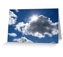 Twinkling Sun Peeking Out Greeting Card