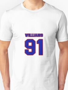National football player Alfred Williams jersey 91 T-Shirt