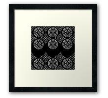 Compass & mandala Framed Print