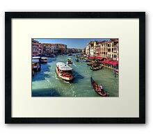 Traffic on the Grand Canal Framed Print