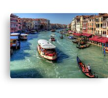 Traffic on the Grand Canal Canvas Print