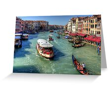 Traffic on the Grand Canal Greeting Card