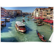 Traffic on the Grand Canal Poster