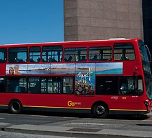 A Red London Bus on London Bridge by EricHands