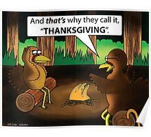 Thanksgiving Cartoon Poster