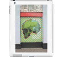 Psychonautes skull green orange blue Cork Street art iPad Case/Skin