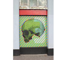 Psychonautes skull green orange blue Cork Street art Photographic Print