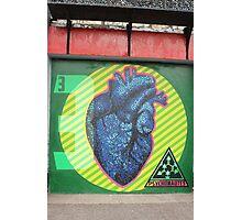 Psychonautes, heart organ, Cork, Street art Photographic Print