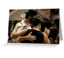 Tango Plaza Dorrego Greeting Card