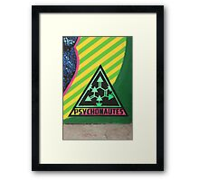 Psychonautes triangle Cork, Street art, iconic Framed Print