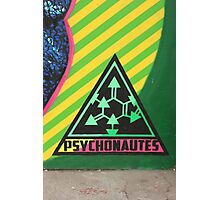 Psychonautes triangle Cork, Street art, iconic Photographic Print