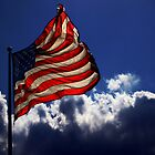 Flag and Clouds by darthdrew