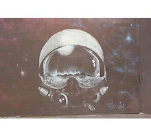 Ethereal space helmet street art Cork Photographic Print