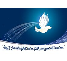Peace Dove Christmas Card - Scripture Photographic Print
