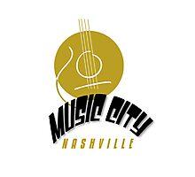 Music City Nashville Photographic Print