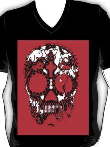 Day of the Dead Sugar Skull Grunge Design T-Shirt