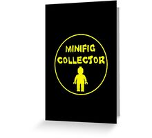 MINIFIG COLLECTOR Greeting Card