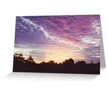 Rooftop Sunset, Magill in South Australia Greeting Card