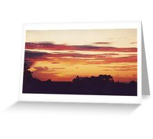 Rooftop Sunset at Magill, South Australia Greeting Card