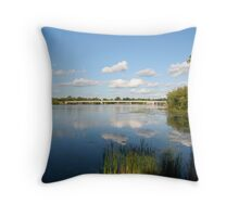 Cotton wool clouds Throw Pillow