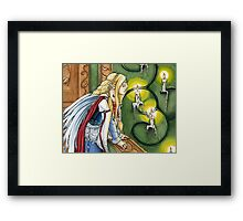 Faerie Queen in Candle lit Chamber Framed Print