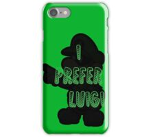 I prefer Luigi bros iPhone Case/Skin