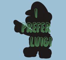 I prefer Luigi bros Kids Tee