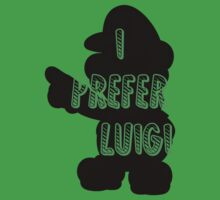 I prefer Luigi bros One Piece - Short Sleeve