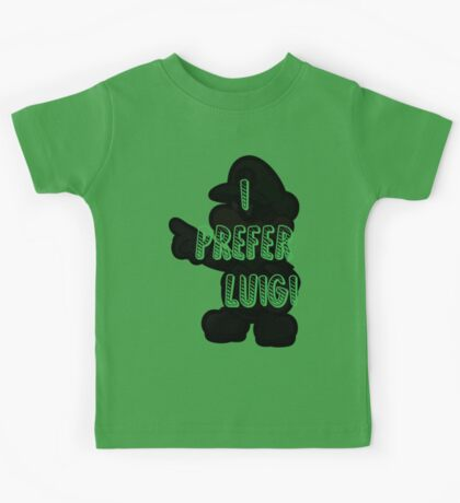 I prefer Luigi bros Kids Tee