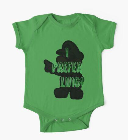 I prefer Luigi bros One Piece - Short Sleeve